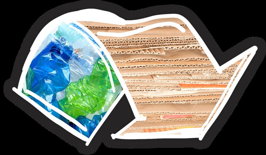 Turcato cartone e plastica